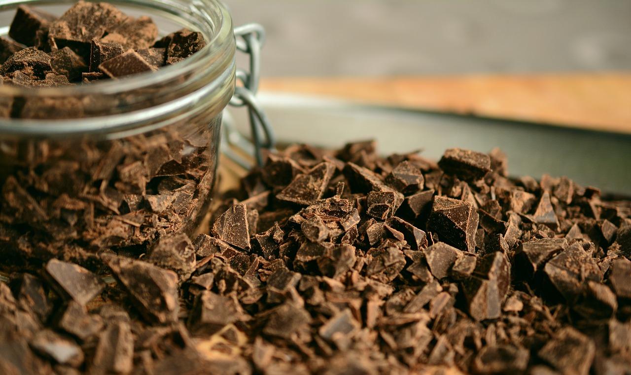 砕いたチョコレート